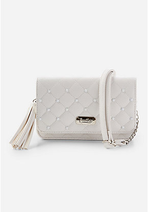 Quilted Stud Crossbody