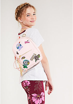 Pink Patch Mini Backpack & Wristlet