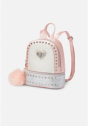 fa57f9ea5007 Pebbled Studded Mini Backpack