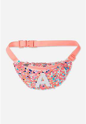 Flip Sequin Initial Belt Bag