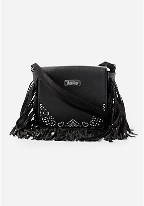 Studded Fringe Crossbody