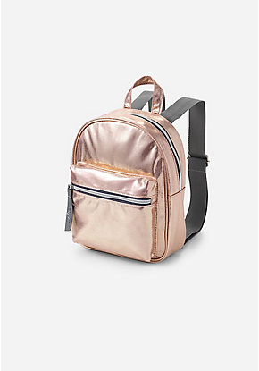 4e95e0d621b3 Rose Gold Shimmer Mini Backpack