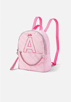 Quilted Initial Chain Mini Backpack