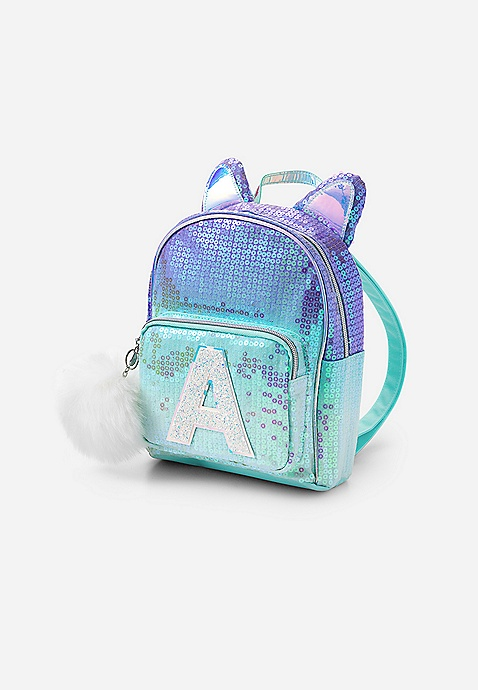 f29a21256616 ... Ombre Cat Initial Mini Backpack. Previous Next