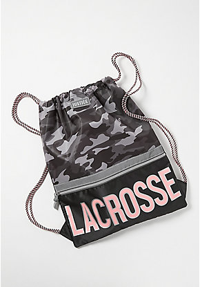Lacrosse Camo Drawstring Backpack