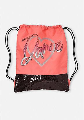 Dance Script Drawstring Backpack 8f568d398a5f1