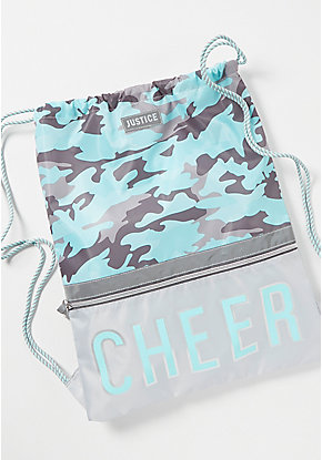 Cheer Camo Drawstring Backpack