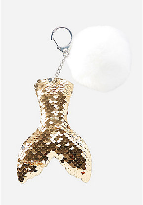 Flip Sequin Mermaid Tail Keychain