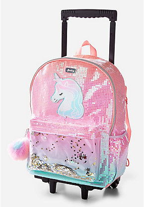 c16d5cdb4377 Unicorn Ombre Shaky Rolling Backpack