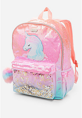 68aac250def7 Unicorn Ombre Shaky Backpack