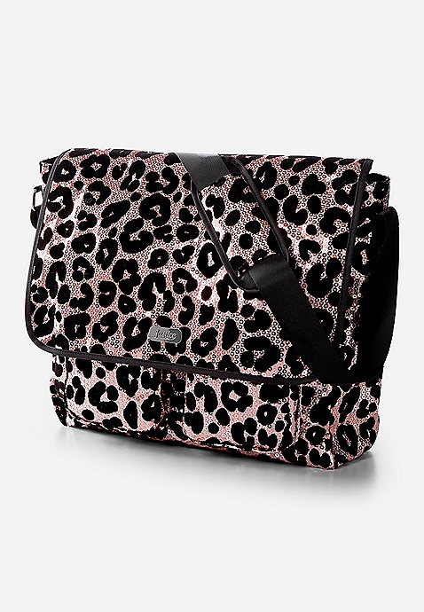 Cheetah Sequin Messenger Bag by Justice