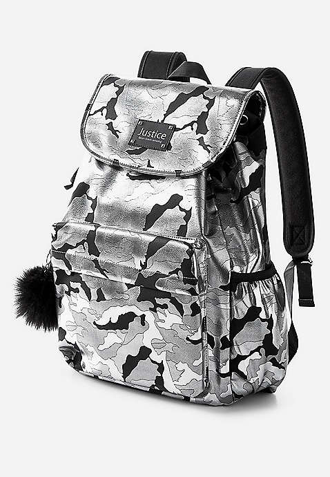 Silver Camo S Backpack Justice