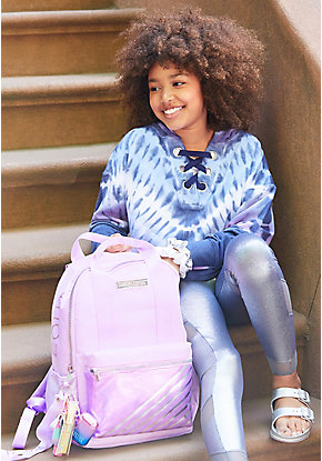 Lilac Stripe Backpack