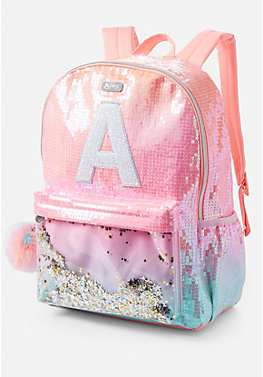 Ombre Initial Shaky Backpack