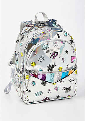 Holo Sticker Pocket Backpack & Wristlet