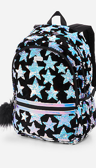 Star Velvet & Flip Sequin Backpack
