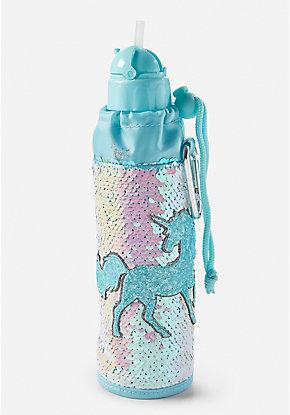 b53e9b8a16b Flip Sequin Unicorn Sleeved Water Bottle