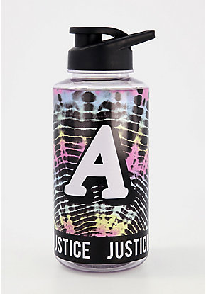 Tie Dye Initial color changing Water Bottle