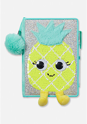 Pineapple Flip Sequin Journal