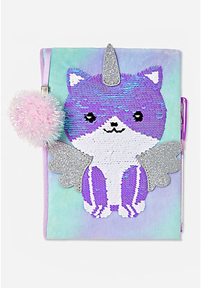 Caticorn Flip Sequin Journal