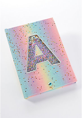 Rainbow Initial Light Up Journal