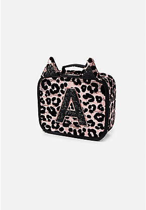 Cheetah Initial Lunch Tote