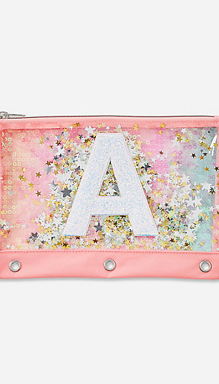 Ombre Initial Shaky Pencil Case