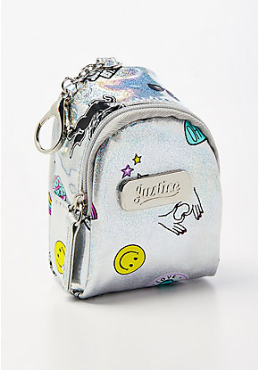 Holographic Sticker Backpack Keychain