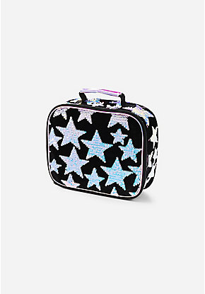 Star Velvet & Flip Sequin Lunch Tote