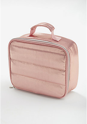 Rose Gold Quilted Lunch Tote