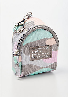Pastel Camo Backpack Keychain