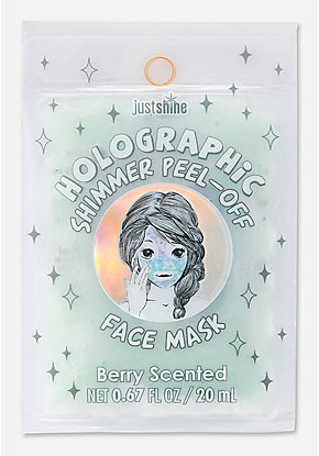 Just Shine Holographic Shimmer Peel-Off Face Mask