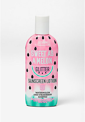 Just Shine Sweet as a Melon Glitter Sunscreen Lotion