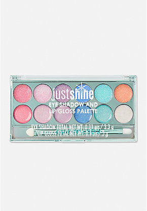 Just Shine Eye Shadow And Lip Gloss Palette