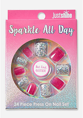 Just Shine Sparkle All Day Press On Nails