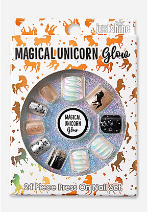 Just Shine Magical Unicorn Glow Press On Nails