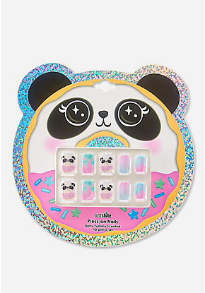 Just Shine Panda Donut Press On Nails