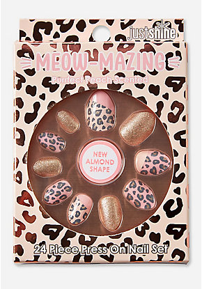 Just Shine Meow-Mazing Scented Almond Press On Nails