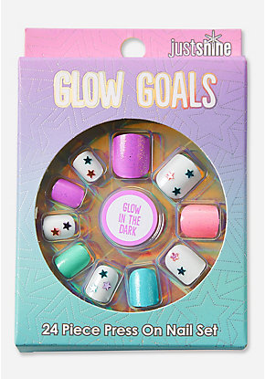 Just Shine Glow Goals Glow in the Dark Press On Nails
