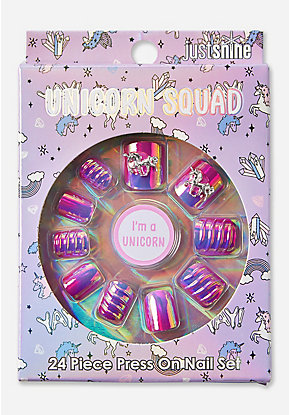 Just Shine Unicorn Squad Press On Nails