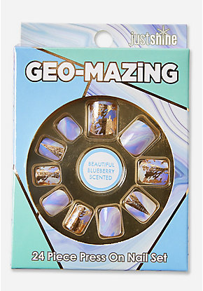 Just Shine Geo-Mazing Scented Press On Nails