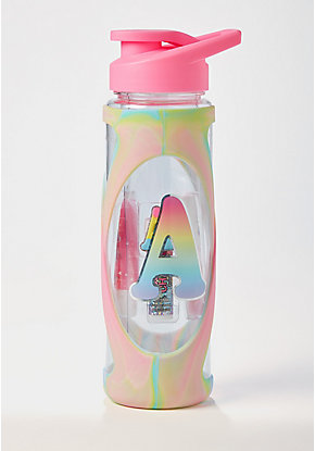 Just Shine Initial Color Changing Lip Gloss Water Bottle
