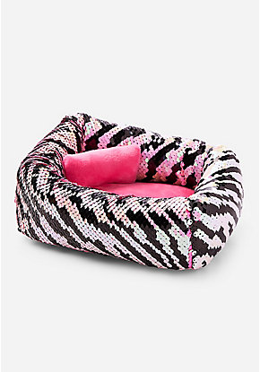 Pet Shop Zebra Flip Sequin Bed