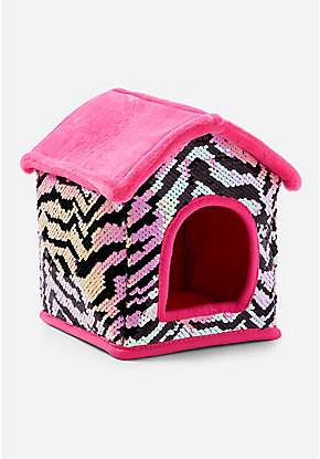 Pet Shop Zebra Flip Sequin Plush House