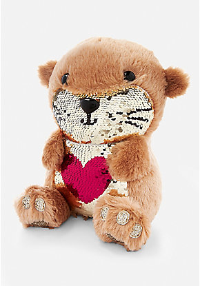 Flip Sequin Otter Plush