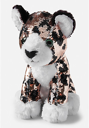 Flip Sequin Cheetah Plush