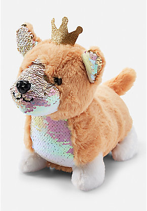 Flip Sequin Corgi Plush