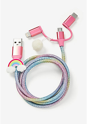 Rainbow 3-in-1 Charging Cable