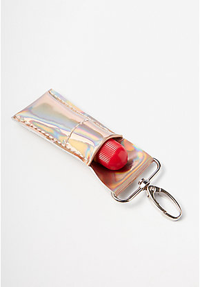 Rose Gold Holo Lip Balm Keychain