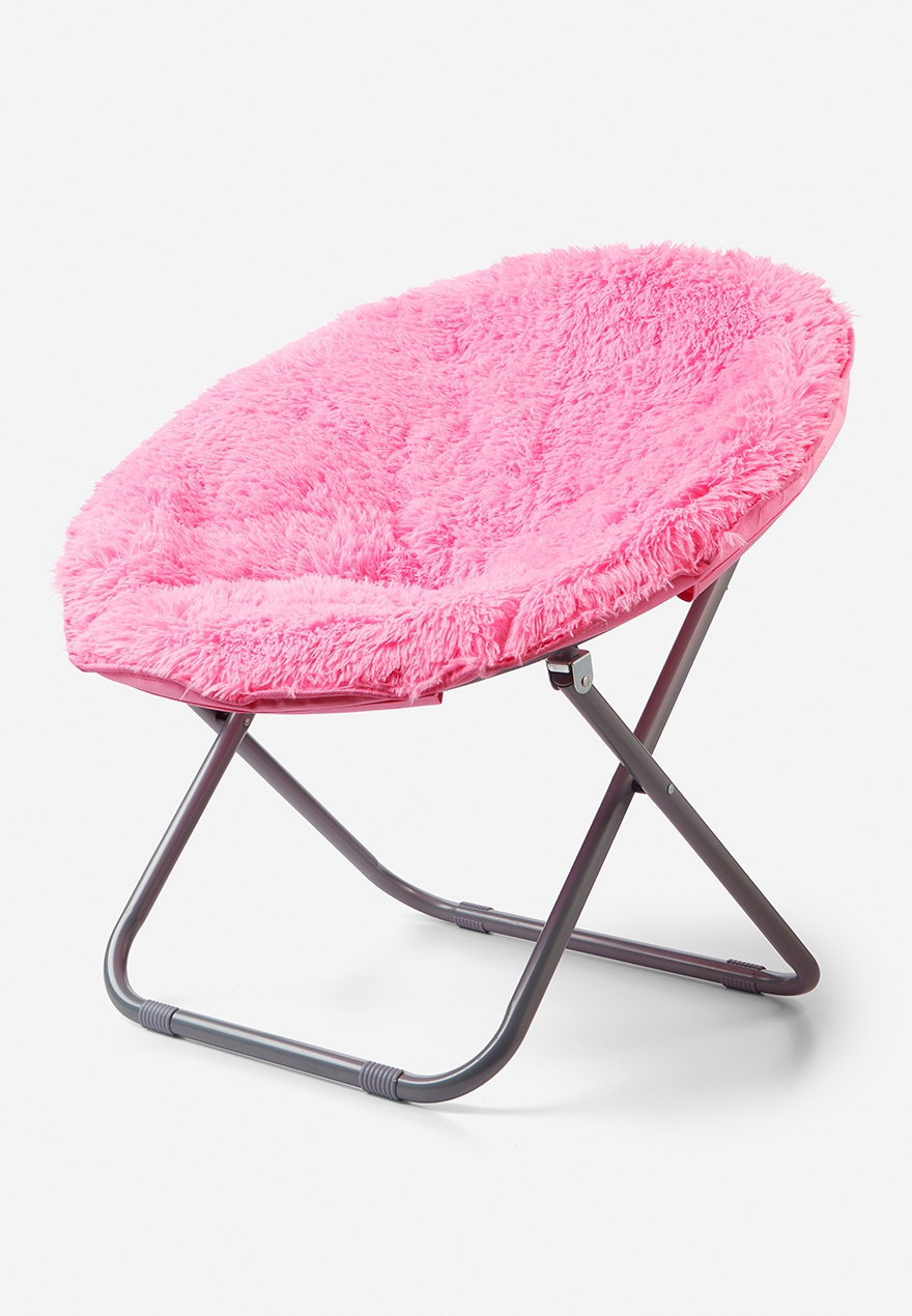 Justice & Faux Fur Saucer Chair | Justice
